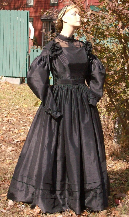 1830's Mourning Gown or Widow's Gown
