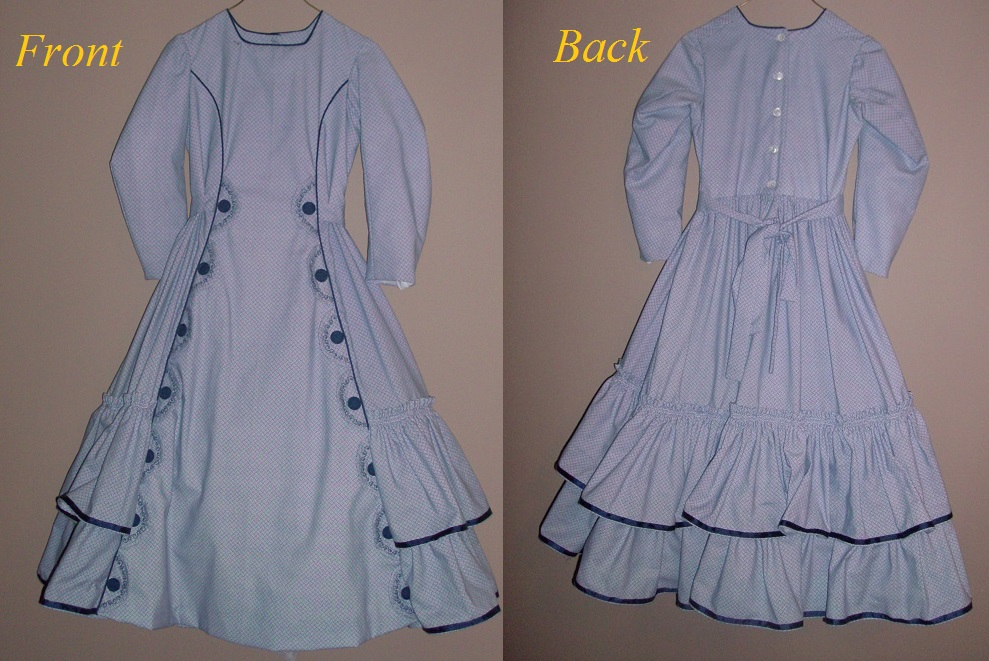 1865 to 1890 Gir's Bustle dress.