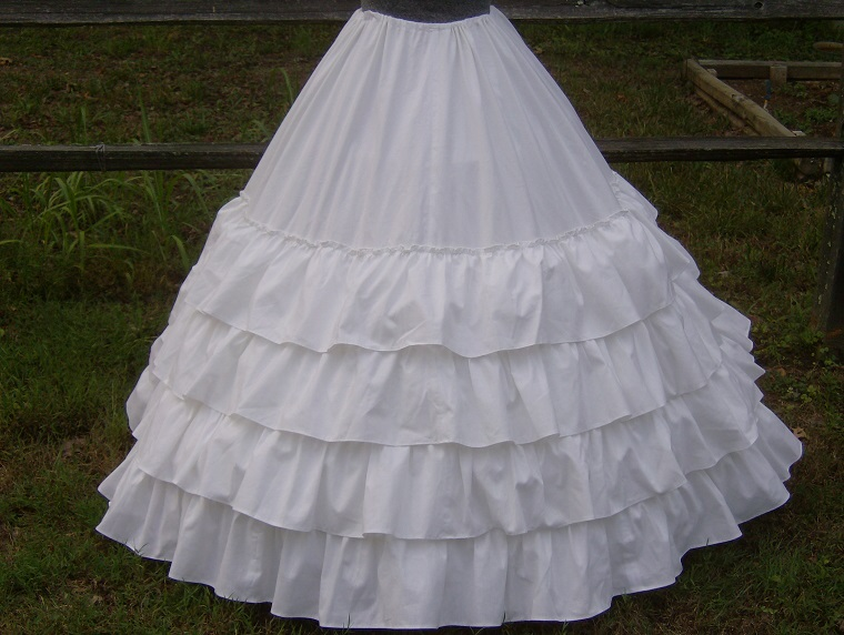 Over or under hoop petticoat
