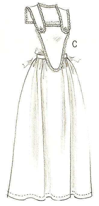 Collar Apron – View CApron, Era c. 1830's – 1915