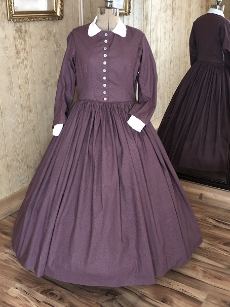 1850's And 1860's Basic Bodice Day or Tea Dress