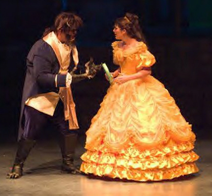 ball gown, jacket, and costumes for Beauty and the Beast