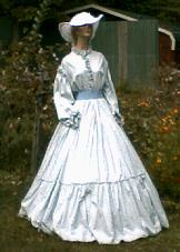 Ladies Mid 1800's or Civil War Tea Dress