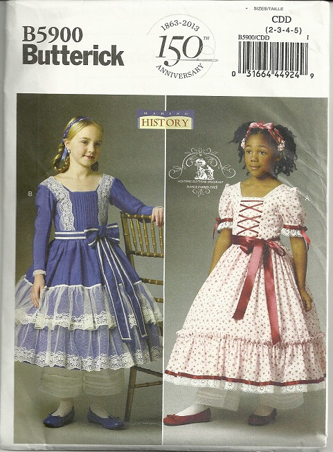 150th Anniversary civil war Butterick B5900