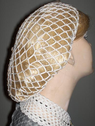 Crochet Hair Net Snood Pattern : Hats, Bonnets, Beaded Snoods, Snoods and Hairnets
