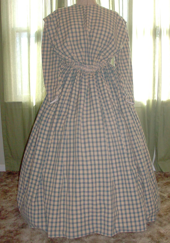 Civil War, Victorian, Mid 1800's Reproduction Dress Gown
