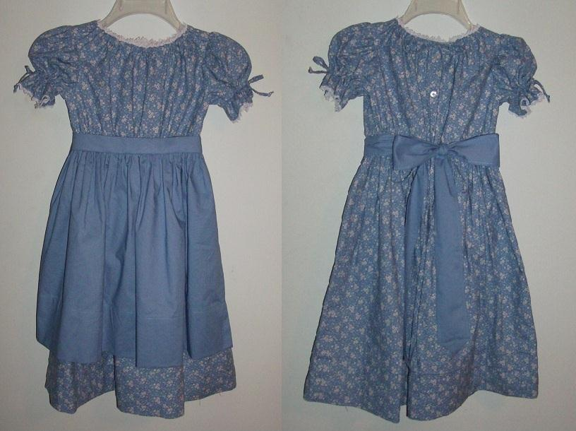 1800's Child's & Girl's Early American, Cabin, Or Growth Dress