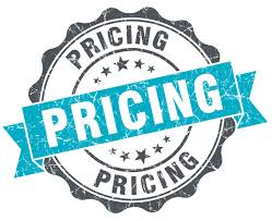 Pricing range for my gowns and costumes