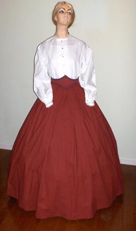 mid 1800's hoop skirts. dresses and gowns
