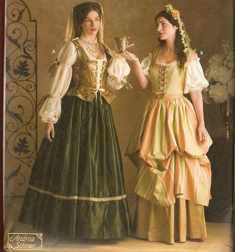 Renaissance Era Costumes, 1483 through 1559.