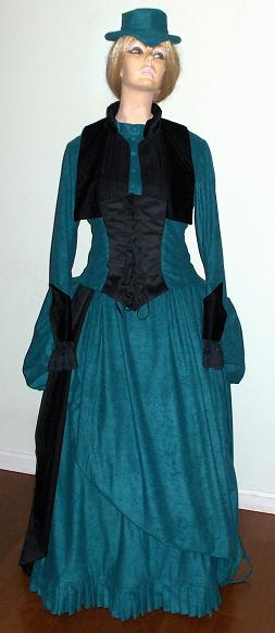 Victorian Walking Bustle Dresses