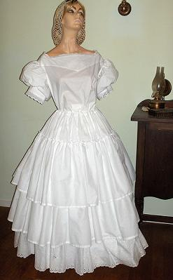 19th Century ladies period clothing, including Victorian