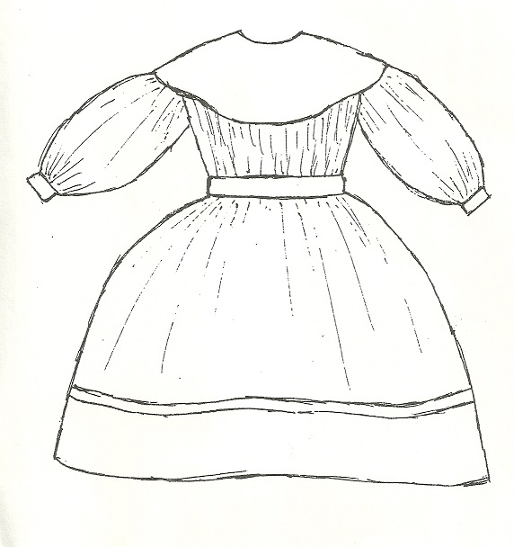 Mid-1800s Yoke Dress